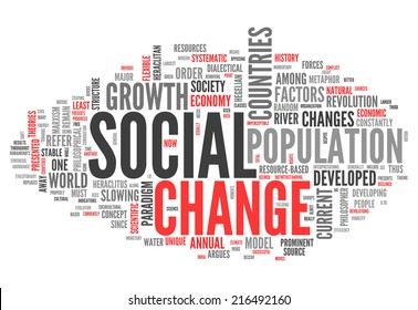Word Cloud with Social Change related tags