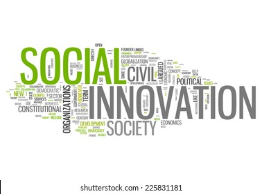 Word Cloud with Social Innovation related tags