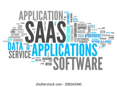 Word Cloud with Software As A Service related tags