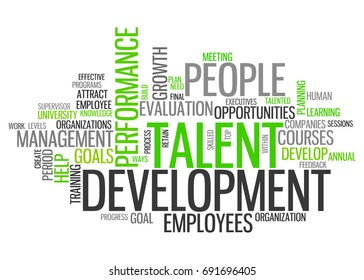 Word Cloud with Talent Development related tags