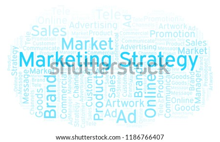 Word Cloud Text Marketing Strategy Stock Illustration - Royalty Free