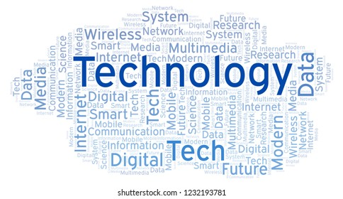 Word cloud with text Technology.