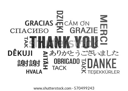 word cloud thank you different languagesのイラスト素材 570499243