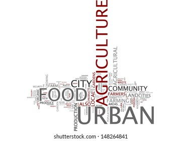 Word cloud - urban agriculture