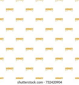 Word honey pattern seamless repeat in cartoon style  illustration