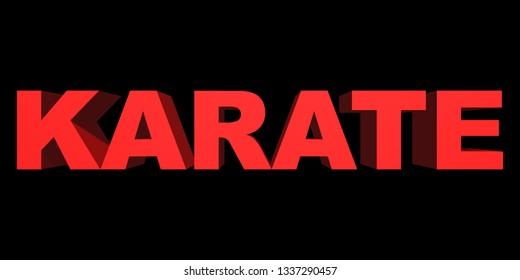Word karate closeup