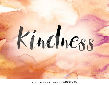 word kindness painted black ink over stock illustration 524006725
