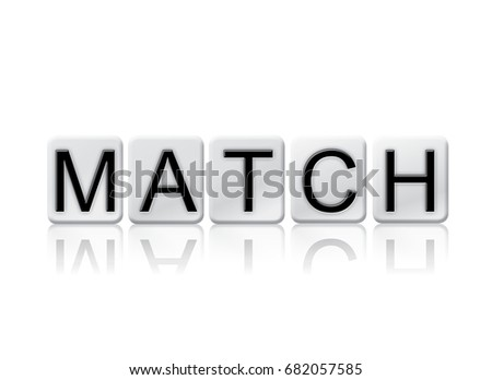 word match concept theme written white stock illustration 682057585
