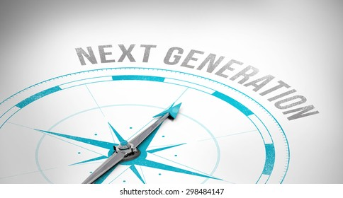 The word next generation against compass