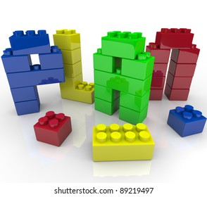 The word Plan built from colorful building blocks representing the importance of creating a successful strategy to achieve your goals