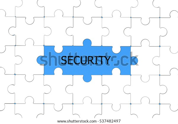 Word Security White Text Revealed By Stock Illustration 537482497
