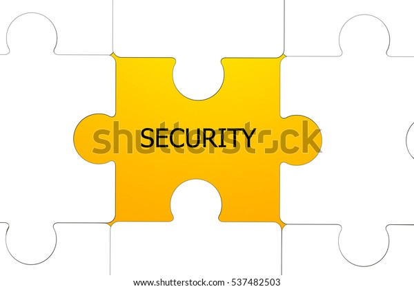 Word Security White Text Revealed By Stock Illustration 537482503
