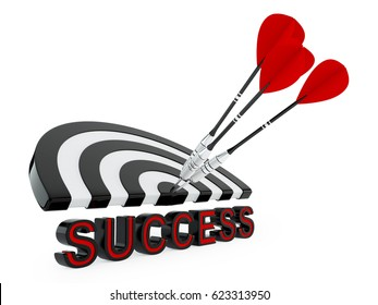 The word success, the goal of darts is the concept of business