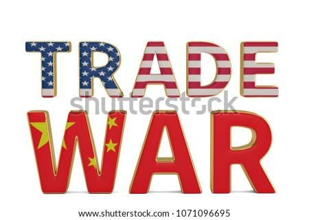 Royalty Free Stock Illustration Of Word Trade War United States