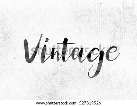 word vintage The