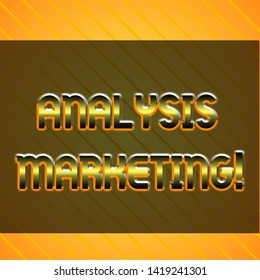 Word writing text Analysis Marketing. Business concept for Quantitative and qualitative assessment of a market Infinite Diagonal Pattern Yellow Stripes Slanting Lines Matching Background.