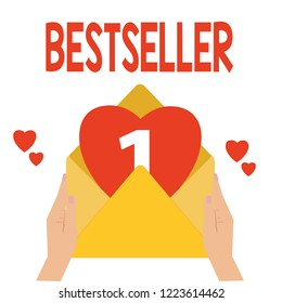 Word writing text Bestseller. Business concept for Book product sold in large numbers Successful literature