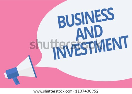 06ac9703fe683 Word Writing Text Business Investment Business Stock Illustration ...