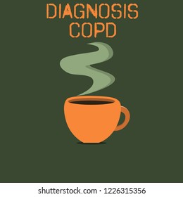 Word writing text Diagnosis Copd. Business concept for obstruction of lung airflow that hinders with breathing