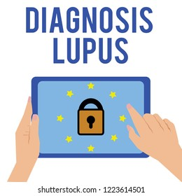 Word writing text Diagnosis Lupus. Business concept for Urine examination show an increase of protein level
