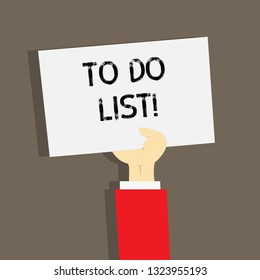 Word writing text To Do List. Business concept for A structure that usually made in paper containing task of yours.