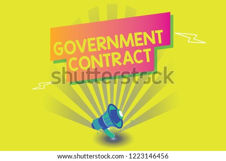 Word Writing Text Government Contract Business Stock Illustration