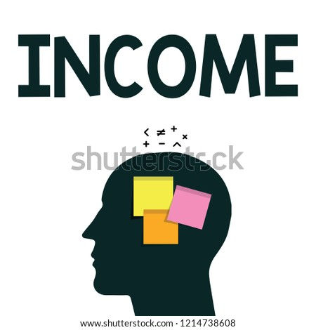 0ddf78a35748d Word Writing Text Income Business Concept Stock Illustration ...