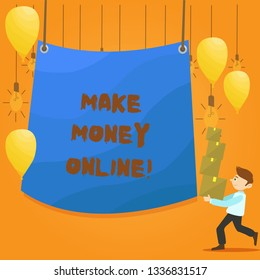 Word writing text Make Money Online. Business concept for Business Ecommerce Ebusiness Innovation Web Technology.