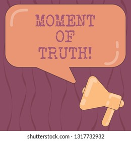 write an essay about the moment of truth