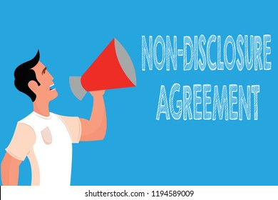 Word writing text Non Disclosure Agreement. Business concept for Legal Contract Confidential Material or Information