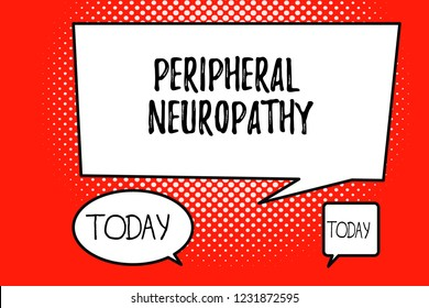 Word writing text Peripheral Neuropathy. Business concept for Condition wherein peripheral nervous system is damaged