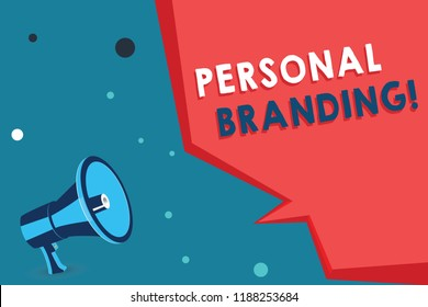 Word writing text Personal Branding. Business concept for Practice of People Marketing themselves Image as Brands