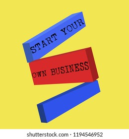 Word writing text Start Your Own Business. Business concept for Entrepreneurial Venture a Startup Enter into Trade