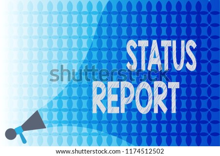 word writing text status report business stock illustration