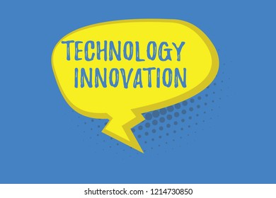 Word writing text TechnologyandInnovation. Business concept for Application of better Solution for New Market Needs