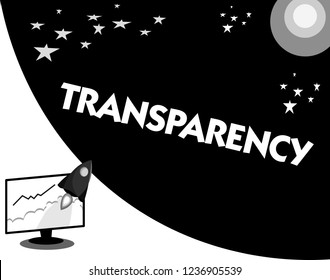 Word writing text Transparency. Business concept for Condition being transparent clear obvious evident Translucent