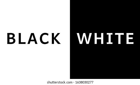 The words Black and White lettering text background for 4k display