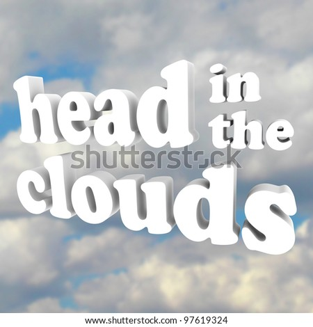 words head clouds 3 d letters against stock illustration 97619324