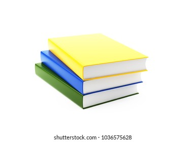 Work Book. Isolated On White. With Clipping Path