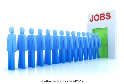 Work Centre : The unemployed looking for a job