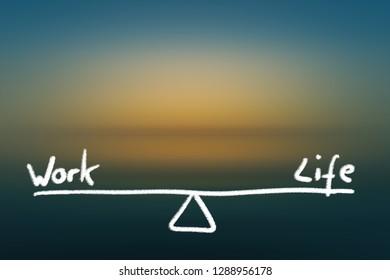 Work life balance illustration