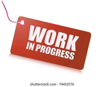 Work in progress label