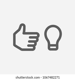 Work smarter icon line symbol. Isolated  illustration of  icon sign concept for your web site mobile app logo UI design.