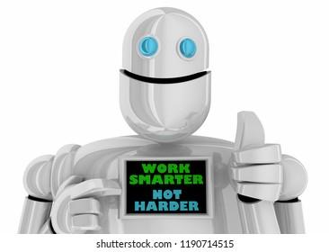 Work Smarter Not Harder Process Efficiency Hacks Robot 3d Illustration