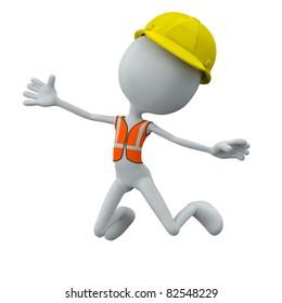 worker jump