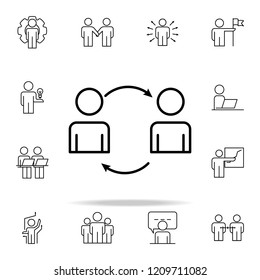 workflow icon. Business Organisation icons universal set for web and mobile