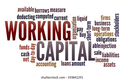 Working Capital in word collage