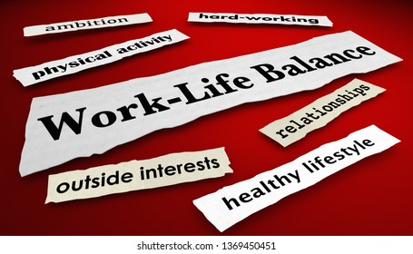 Work-Life Balance Career Job Life News Headlines 3d Illustration