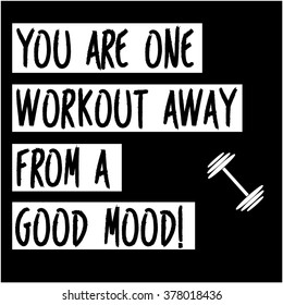 Workout motivation poster