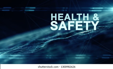 Workplace health and safety (WHS (HSE) (OSH) welfare of people at work title - illustration render